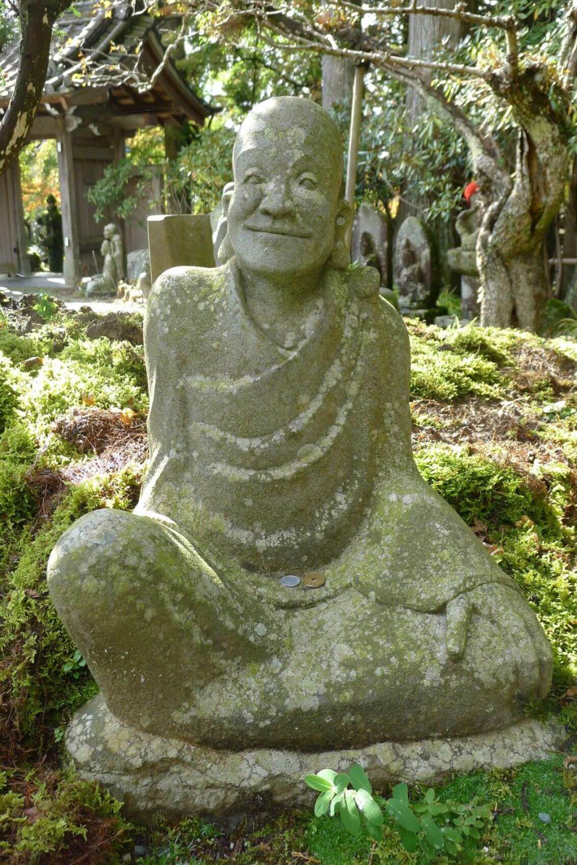 Posąg ucznia Budy Japonia