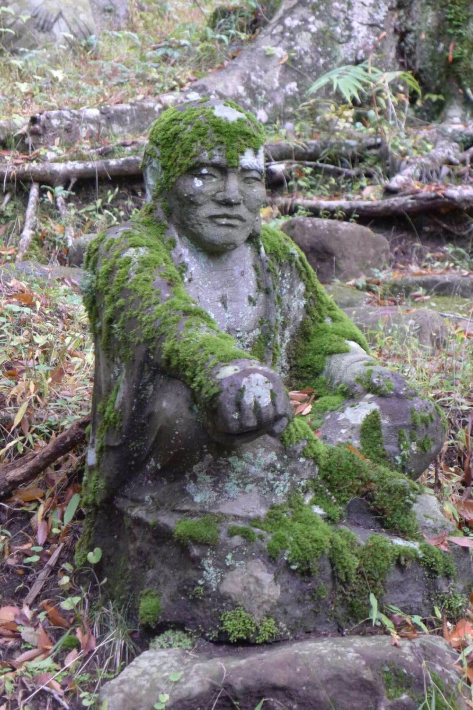 Posąg w ogrodzie Japonia
