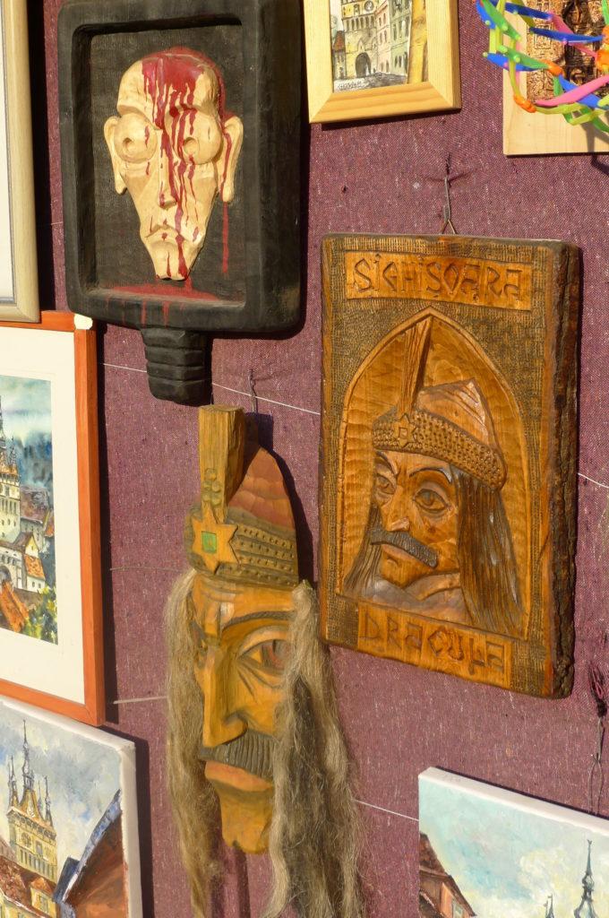 Pamiątki z Draculą w Sigishoarze