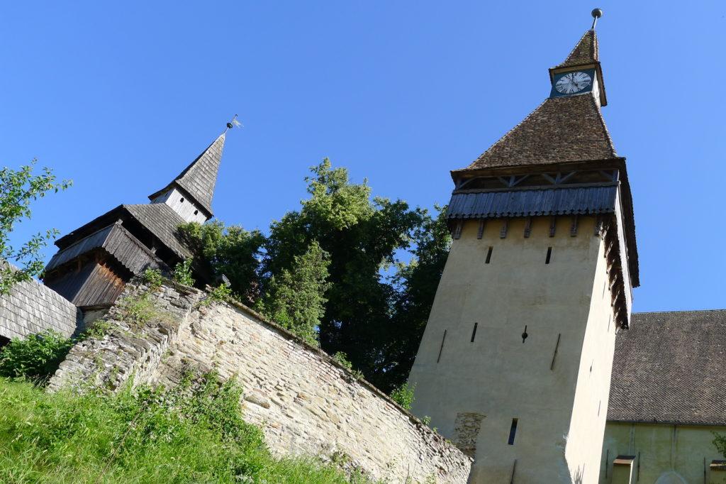 Wieże kościołu w Biertan, Transylwania