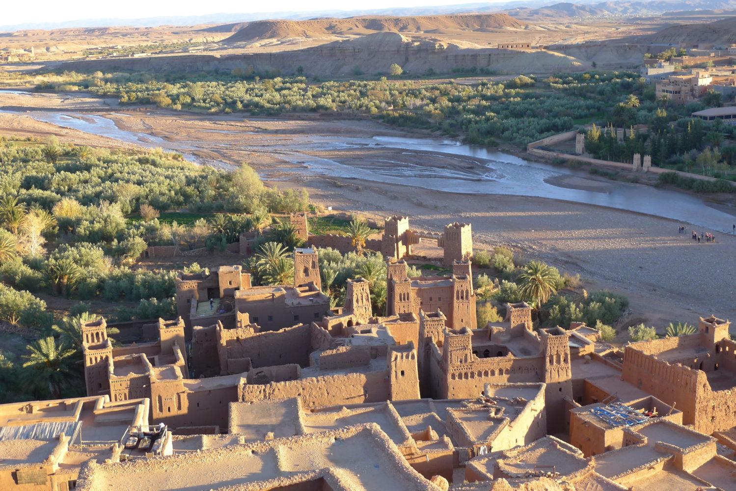 Widok z góry na ksar Ait bin Haddou