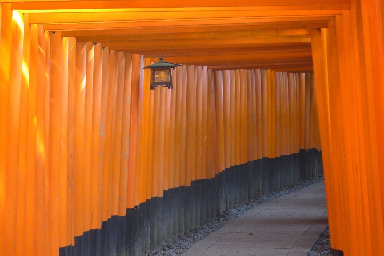 Tori w świątyni Fushimi Inari - niezwykłe miejsce Japonia