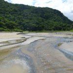 Rzeka wpadająca od oceanu Dzikie Wybrzeże