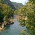 Spokojny bieg rzeki Una, Bośnia
