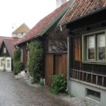 Brukowane ulice w Visby