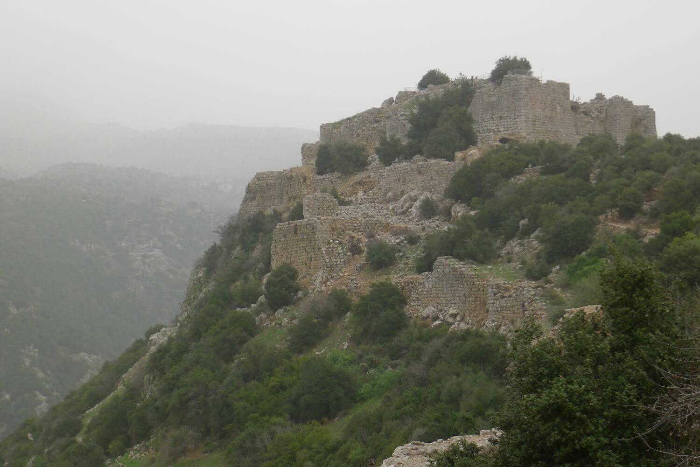 Wzgórza Golan, Izrael, twierdza Nimrod