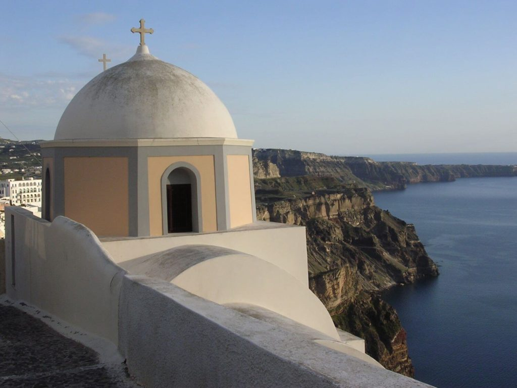Kościółek w Firze, Santorini, Cyklady