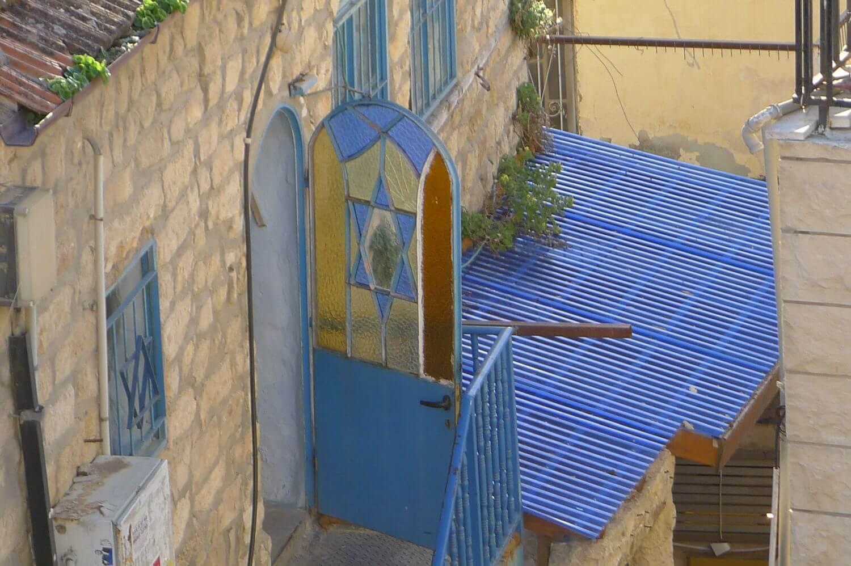 niebieskie drzwi w Safed Północny Izrael