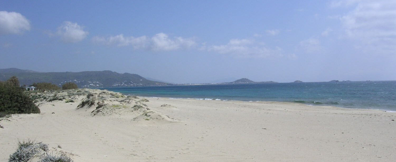 Plaża na Naxos, Cyklady