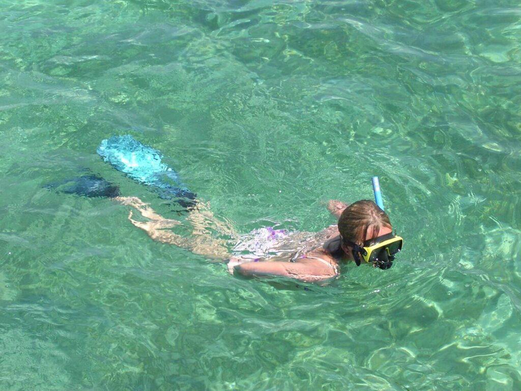 Snorkelling w morzu karaibskim, Kuba